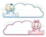 Baby Cloud Blank Stock Image