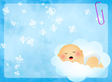 Baby on cloud Royalty Free Stock Photos