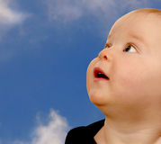Baby In the Clouds Royalty Free Stock Photography