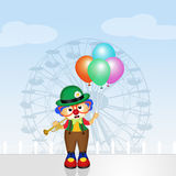 Baby clown with balloons Royalty Free Stock Image
