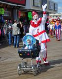 Baby Clown with Daddy Clown. Royalty Free Stock Photos