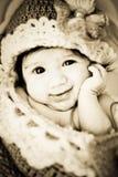 Baby in cocon royalty-vrije stock afbeelding