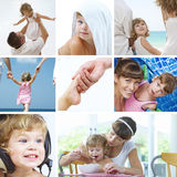 Baby collage. Beautiful baby  lifestyle theme collage made from few photographs Royalty Free Stock Photos