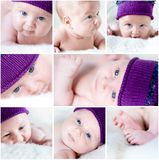 Baby collage Royalty Free Stock Image