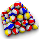 Baby colorful balls piled in form of pyramid Royalty Free Stock Photos