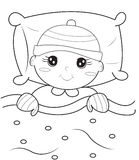 Baby coloring page. Useful as coloring book for kids Stock Photos