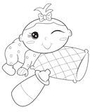 Baby coloring page. Useful as coloring book for kids Royalty Free Stock Photography