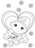 Baby coloring page Stock Photography