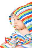 Baby in colors Stock Photo