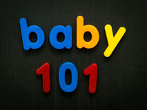Baby 101 concept Stock Images