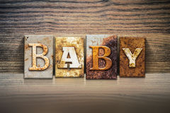 Baby Concept Letterpress Theme Stock Photo