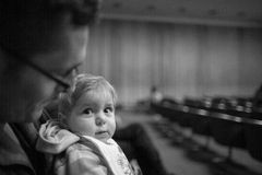 Baby Dad Concert Royalty Free Stock Image