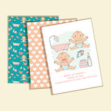 Baby Congratulations Cards Royalty Free Stock Image