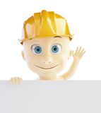 Baby construction helmet form Royalty Free Stock Photos