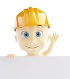 Baby construction helmet form Royalty Free Stock Photos