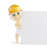 Baby construction helmet form. On a white background Stock Photo
