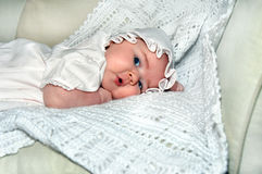 Baby Cooing Stock Images