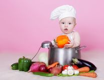 Baby cook Royalty Free Stock Photography