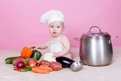 Baby cook Royalty Free Stock Photo