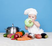 Baby cook Royalty Free Stock Image