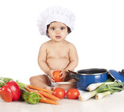Baby cook Stock Photo
