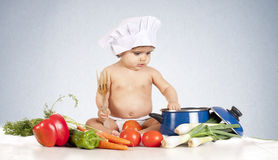 Baby cook fork Stock Photo