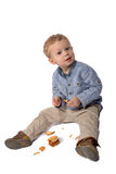 Baby with cookies Royalty Free Stock Photography