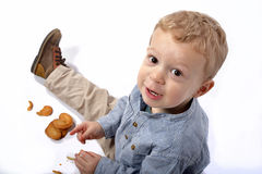 Baby with cookies Royalty Free Stock Image