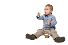 Baby with cookies Royalty Free Stock Photos