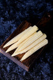 Baby corn cobs. Close up, vertical, top view Royalty Free Stock Image