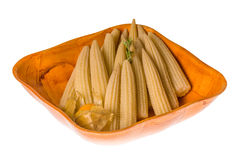 Baby corn. Isolated on white background Stock Photography