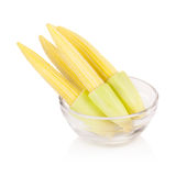 Baby corn isolated on white background.  Royalty Free Stock Photos