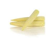 Baby corn isolated on white background.  Royalty Free Stock Images