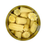 Baby Corn Nuggets In Can Stock Photo