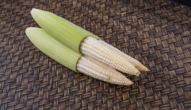 Baby Corn On Wicker IX Royalty Free Stock Photography