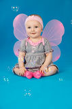 Baby in costume butterfly Stock Photography