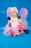 Baby in costume fairies Stock Photos