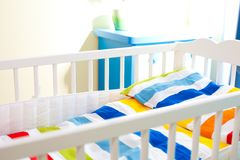 Baby cot Royalty Free Stock Photo