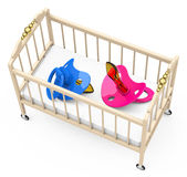 Baby cot Stock Image