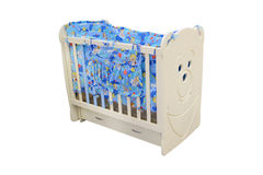 Baby cot with drawer Royalty Free Stock Photo