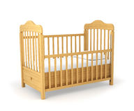 Baby cot isolated under Royalty Free Stock Photos