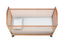 Baby cot isolated on white background. 3d rendering.  Royalty Free Stock Photo