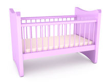 Baby cot over white background Royalty Free Stock Photography