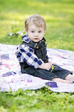 Baby in country setting Royalty Free Stock Images
