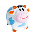 Baby Cow coin box royalty free stock photography