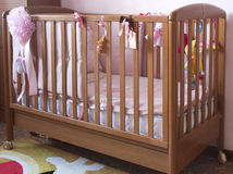 Baby cradle. In a baby room Stock Photography