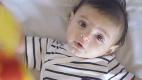 Baby in the cradle stock footage