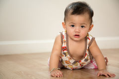 Baby crawl Royalty Free Stock Images