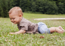 Baby crawling Royalty Free Stock Photo
