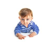 Baby crawling Stock Photo